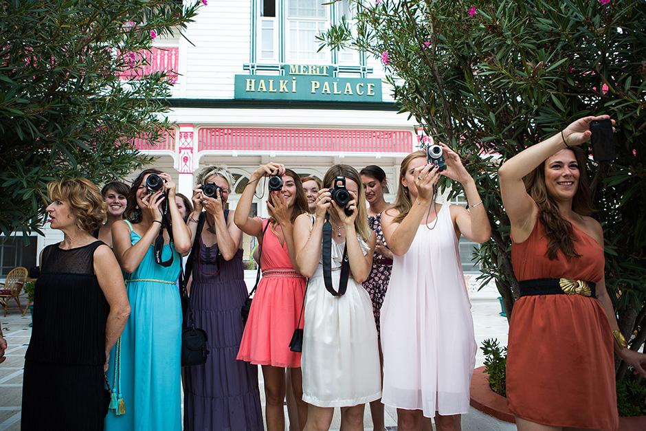 French Girls on Wedding, bridesmaid