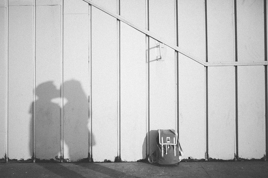 German lovers kissing artistic shadow photo