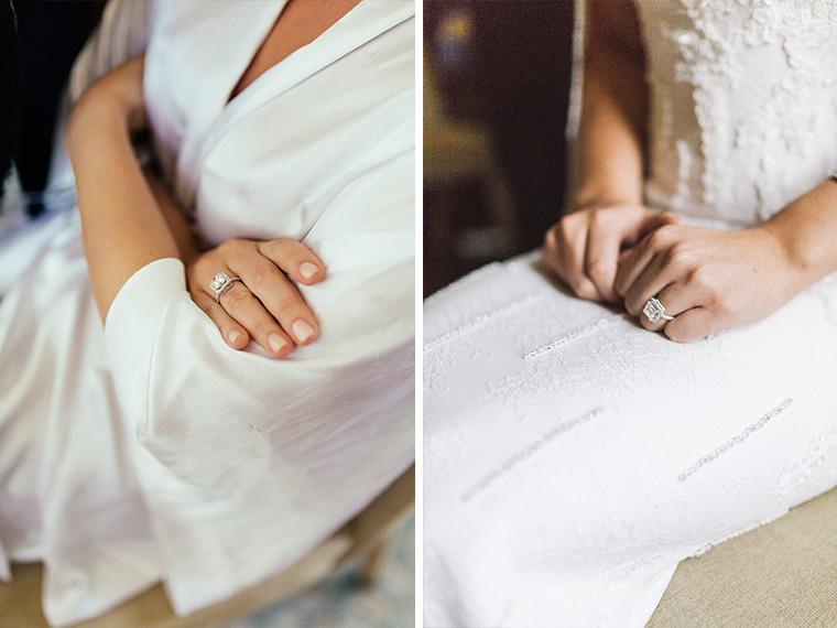 Bride's wedding ring