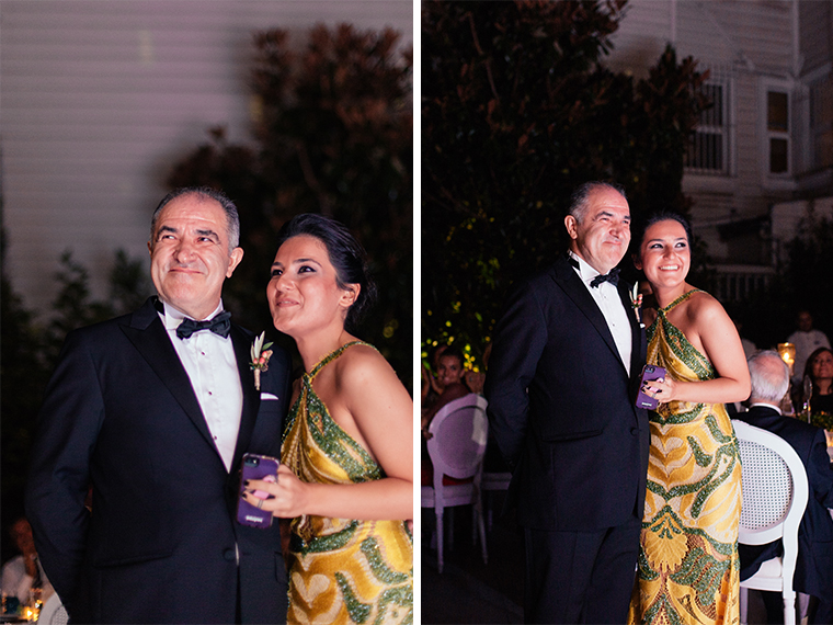 Bride's father and her cousin are in tears for a perfect speech